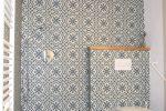 bathroom overview wetroom with Moorish tiles