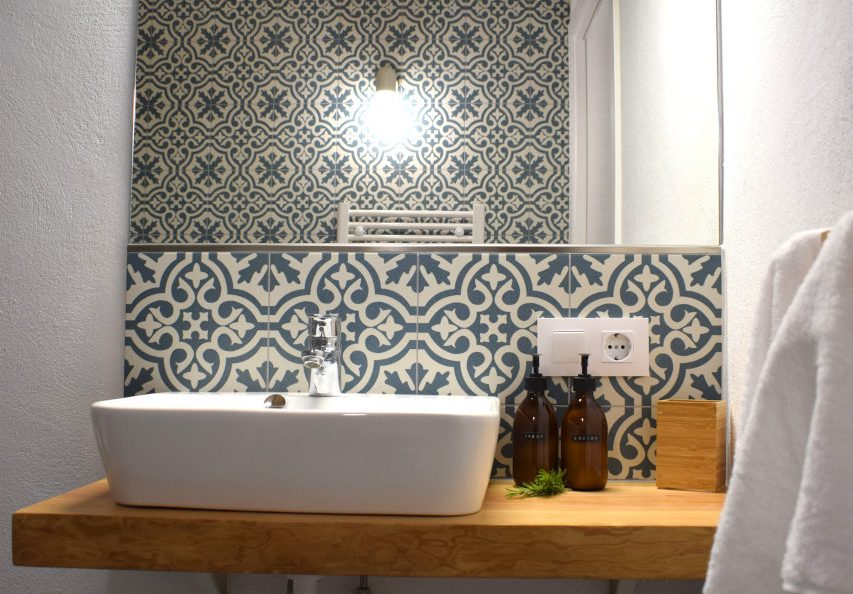 sink with Moorish tiles