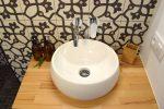 detail of sink in ensuite bathroom
