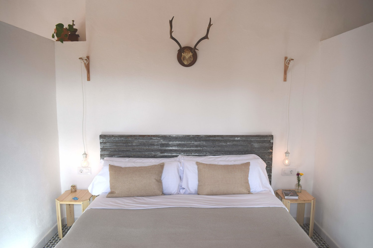 view of bedroom casa de campo modern rustic style
