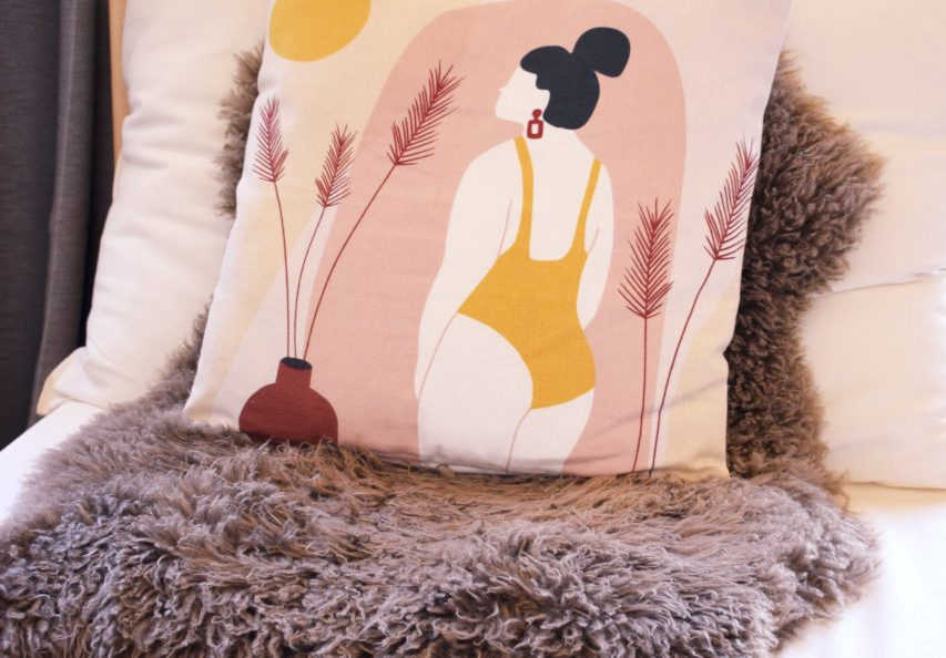 pillow in sofa